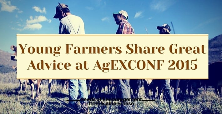 Young Farmers Share Great Advice at AgEXCONF 2015
