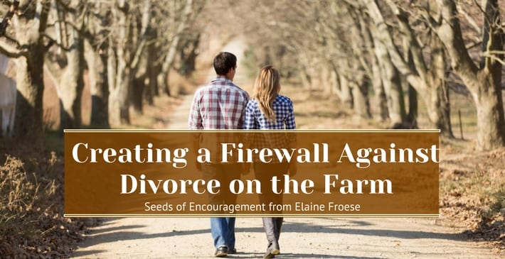 Creating a Firewall Against Divorce on the Farm