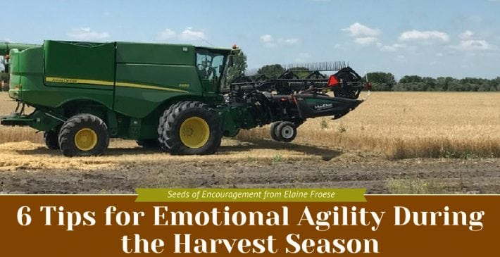 6 Tips for Emotional Agility During the Harvest Season
