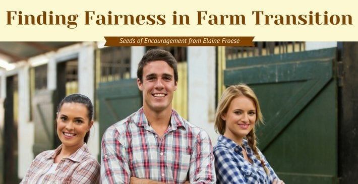 Finding Fairness in Farm Transitions