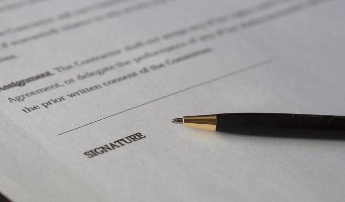 write a will - signature