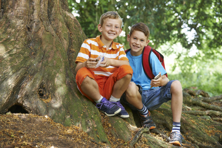Summer Fun Two Boys Geocaching Image